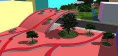 Projeto de Parque em área desocupada na Rua Venâncio Aires - centro da cidade de Santa Maria - RS