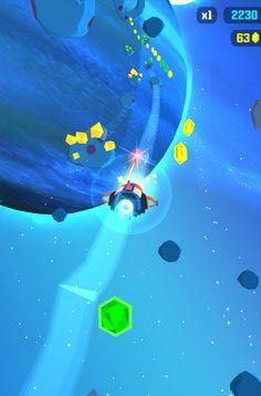 Fun colors in Galaxy Dash by Super Moon Games