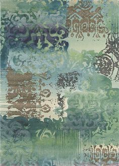 A #luxurious #designer #rug woven from pure new #wool. The rug features #floral and #abstract #prints with tonal #colours. #Carpet rug from #Holograph, Brink & Campman