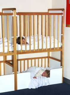 Crib and Toddler Bunk Bed is his safe It is adorable