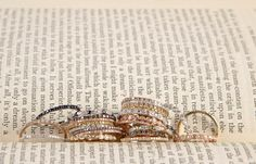 14kt gold #Majolie stacking bands - perfect for Mother's Day! Available at #LibertyDiamonds