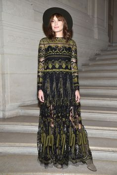 Sheer Green Embroidery - Here's What Guests Wore to the Couture Shows in Paris - Photos