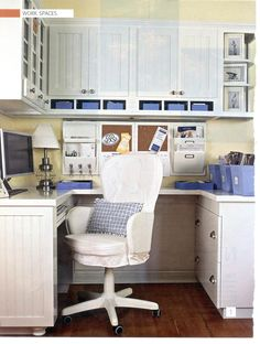 "Take away the chair and add the appropriate appliances and this would make a great ""one butt"" kitchen."