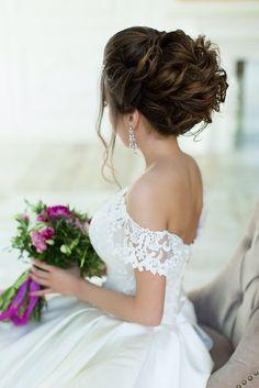Wedding makeup and wedding hair. Свадебная прическа и свадебный макияж. http://elenaivanova.ru