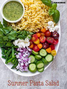 Healthy Pastas, Healthy Salad Recipes, Veggie Recipes, Healthy Snacks, Vegetarian Recipes, Dinner Recipes, Healthy Eating, Cooking Recipes, Dessert Recipes