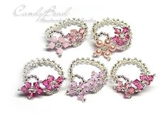 Cherry Blossom Swarovski Crystal Ring  Pink Pink door candybead, $5.00