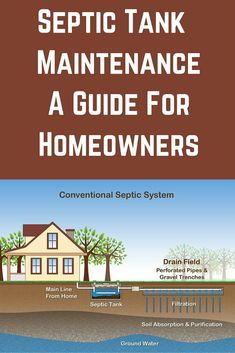 As you responsibly operate and perform septic tank maintenance you're protecting the public health, the environment, and your pocket book. Diy Septic System, Septic Tank Systems, Septic System Service, Septic Tank Service, Septic Tank Design, Home Inspection, Home Repairs, Home Ownership, Building A House