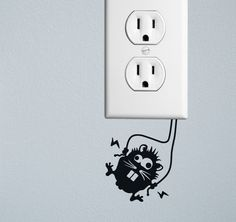 20+ Creative Wall Outlet Stickers And Covers For Your Inspiration