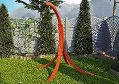 OneSelf to stelaż na hamak który jest propozycją dla ceniących wypoczynek we własnym towarzystwie.  Prawdziwy komfort wypoczynku osiągną Państwo uzupełniając swój ogród o drewniany stelaż na hamak OneSelf.
