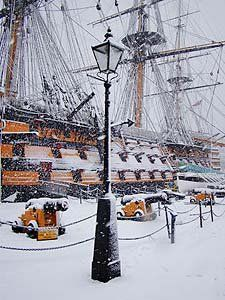HMS Victory in winter