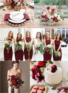 2015 Color Trends - Red Marsala, Wedding, Bat Mitzvah Party Ideas on mazelmoments.com