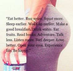 experience life, be happy #fitspo