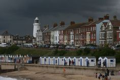 Southwold with a storm approaching. Suffolk Coast, Places Of Interest, Beautiful Places, Street View, Weather, Memories, Amazing, Nature, Memoirs