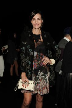Adriana Abascal in a Valentino look from the Spring 2016 collection to the Women's Spring/Summer 2016 fashion show on October 6th, 2015.