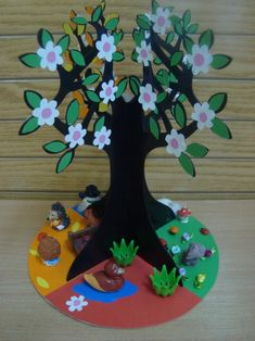 E-mail - Jenny van Losser - Rozendom - Outlook Kids Crafts, Fall Crafts For Toddlers, Tree Crafts, Toddler Crafts, Diy For Kids, Diy And Crafts, Arts And Crafts, Paper Crafts, Eco Friendly Ganpati Decoration