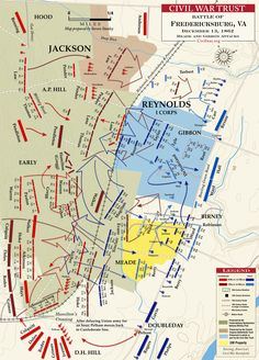 Battle of Fredericksburg, VA (1862)  Meade and Gibbon Advance - December 13, 1862