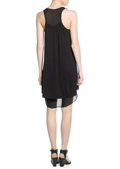 Chiffon panel dress