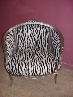 animal print chair perfect for a sophisticated closet