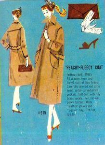 Barbie - Peachy Fleecy Coat #915