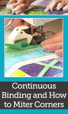 Heather Thomas delivers detailed instructions for making continuous mitered binding. Learn how to create mitered bindings for your quilts to ensure the end result is neat and tight. Go through each step with her and see what tools work best. Find out what double french is and how it can be used to make you binding. Start making continuous mitered binding on your quilts by using these helpful tips.