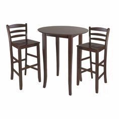 """Fiona 3Pc Tall Round Table Dining Set - Winsome Trading $269, 34"""" round, pub height 39"""""""