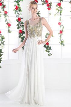 Illusion Neckline, Chiffon Skirt, Illusions, Ball Gowns, Bodice, Beading, Palette, Pastel, Bridal