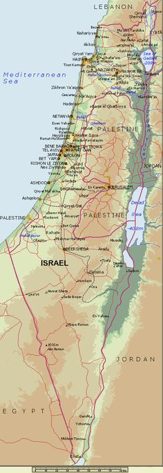 Image Detail for - Map of Israel