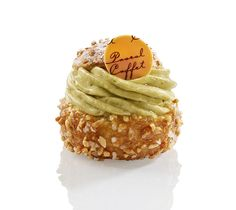 Sicile - choux à la crème légère pistache, compotée d'abricots acidulés - Pascal Caffet