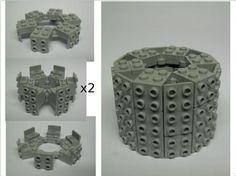 author : John Boozer lego technics for cylindric form (tower)