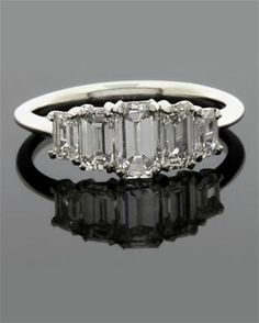Exceptional Ring DR011  Stunning Emerald Cut  5 Stone Diamond Ring 1.86 ct €7,500.jpg