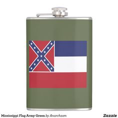 Mississippi Flag Army Green Hip Flask