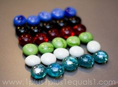 magnetic gems.. super easy to make, fun for tot school! (well, let's face it, everyone likes to play with magnets.)