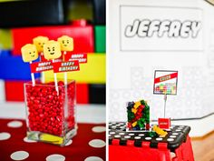 A Modern LEGO Inspired Birthday Party