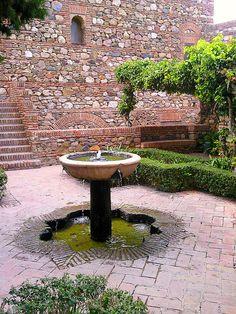 Fountain in the Alcazaba. Malaga, Spain. My photo tour of the Alcazaba, Malaga: www.europealacarte.co.uk/blog/2010/12/16/malaga-attractio...    If you use our photos please link to the Europe a la Carte Blog:  http://www.europealacarte.co.uk/blog