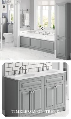 Try this timeless classic for your bathroom, available in a range of finishes and colours. Fitted Bathroom Furniture, Timeless Classic, Bathroom Inspiration, Double Vanity, Small Bathroom, Storage Spaces, Range, Colours, Flooring