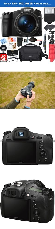 Sony DSC-RX10M III Cyber-shot 4K Video 20.1MP Super Zoom Digital Camera + Two-Pack NP-FW50 Spare Battery & Charger Kit + Accessory Bundle. Now, nothing is beyond reach - With vast zoom range out to 600 mm, efficient 1.0-type image sensor, large-aperture lens, and much more at your command, it's easy to capture more captivating stills and movies from every perspective. Expression unlimited - Large-aperture, high-magnification zoom extends expressive potential Together, a large-aperture…