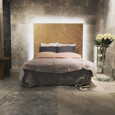 This is a Bedroom Interior Design Ideas. House is a private bedroom and is usually hidden from our guests. Much of our bedroom … Concrete Bedroom, Tile Bedroom, Concrete Interiors, Bedroom With Bath, Bedroom Wall Designs, Bedroom Decor, Bedroom Ideas, Grey Interior Design, Interior Walls