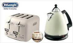 delonghi cream kettle and toaster - Google Search Kettle And Toaster, Kitchen Appliances, Google Search, Diy Kitchen Appliances, Home Appliances, Kitchen Gadgets