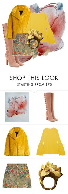"""""""Savory Floral"""" by rhymingscapes on Polyvore featuring Gianvito Rossi, Diane Von Furstenberg, STELLA McCARTNEY, Gucci and Imogen Belfield"""