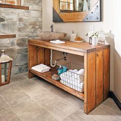 comment fabriquer un meuble lavabo en bois? | bricobistro dans Meilleur Brillant En plus de attractif Fabriquer Un Meuble De Salle De Bain En Bois dans Monako