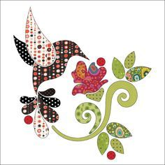 (7) Name: 'Quilting : Applique Add On's - Hummingbird Set