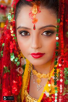 Nepalese bride with beautiful eyes