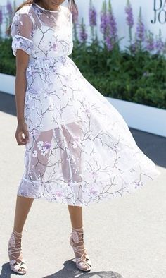 Lovely cherry blossom sheer dress. It's so perfect