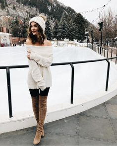 Shop Your Screenshots™ with LIKEtoKNOW.it, a shopping discovery app that allows you to instantly shop your favorite influencer pics across social media and the mobile web. Always Cold, Dinner Outfits, Colourful Outfits, Winter Looks, Cozy Sweaters, Autumn Winter Fashion, Cute Outfits, Aspen, My Style