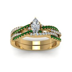 Ringjewels 0.89 Carat Round Cut Emerald /& Simulated Diamond Stud Earrings In 14K Gold Plated .925 Silver