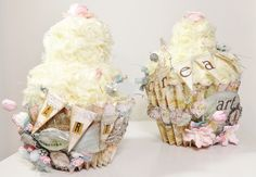 shabby chic crafts | Shabby Chic Cupcake Pincushions | Crafts I must try