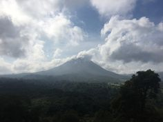 Arenal Volcano standing tall and proud after a long day of inspections in the area!
