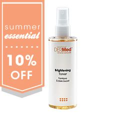 Balance and protect your skin with the Institut' DERMed Brightening Toner formulated with L-Ascorbic and Glycolic Acids to prevent free radical damage and fade skin discoloration for a vibrant, even-toned complexion. 10% off until June 30th 1014 with code: SUMMER at checkout