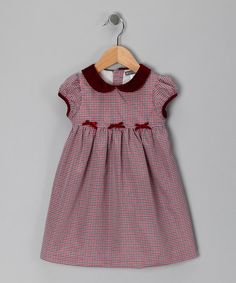 Take a look at this Red Plaid Cap-Sleeve Dress - Infant & Toddler by Petit Confection on #zulily today!