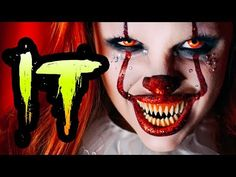 (13) IT PENNYWISE GLAM HALLOWEEN MAKEUP TUTORIAL - YouTube